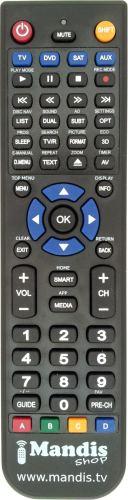 Ersatz Fernbedienung für Samsung TV UE50JU6800KXZFUE50JU6800WUE50JU6850
